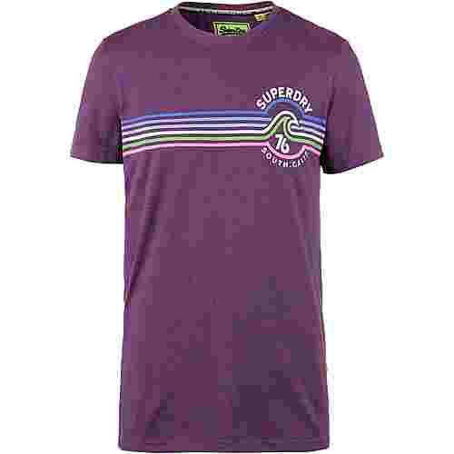Superdry Malibu T-Shirt Herren rust blue grit