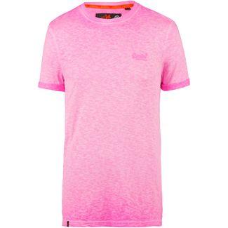 Superdry Low Roller T-Shirt Herren deep pop pink