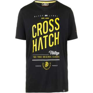 Crosshatch Fresan T-Shirt Herren black