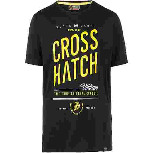 Crosshatch Fresan T-Shirt Herren black