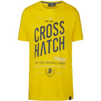 Crosshatch Fresan T-Shirt Herren yellow