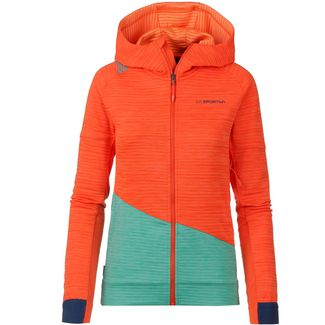 La Sportiva Aim Fleecejacke Damen lily orange-aqua