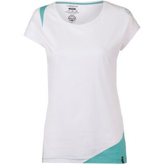 La Sportiva Chimney T-Shirt Damen white-aqua