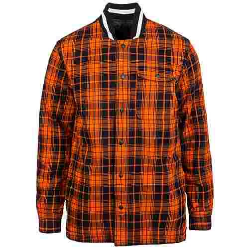 CONVERSE Quilted Flannel Sweatjacke Herren orange / schwarz