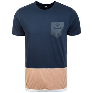 hummel HMLAARON T-Shirt Herren dunkelblau / beige