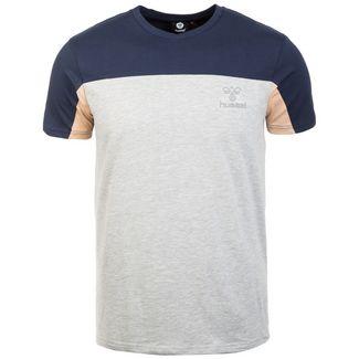 hummel HMLLINCOLN T-Shirt Herren hellgrau / dunkelblau