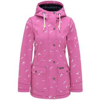 Schmuddelwedda Regenjacke Damen pink Mövenprint