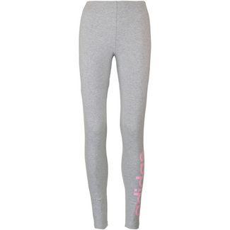 adidas Leggings Damen medium grey heather-true pink
