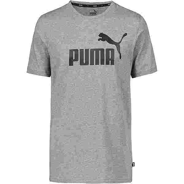 PUMA ESS Logo T-Shirt Herren medium gray-heather