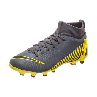 Nike Mercurial Superfly VI Academy Fußballschuhe Kinder grau / schwarz