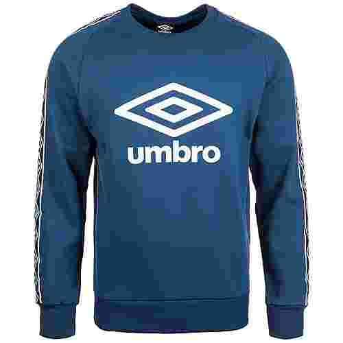 UMBRO Retro Taped Crew Sweatshirt Herren blau / weiß