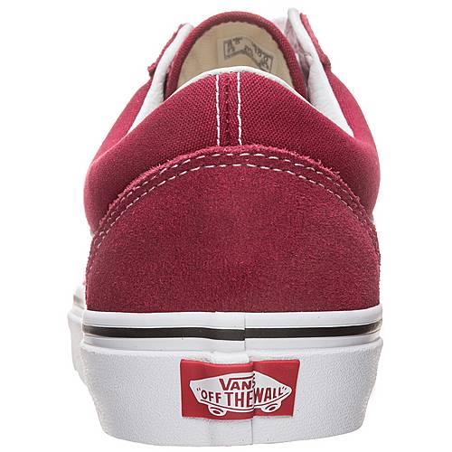 Vans Old Skool Sneaker rot weiß im Online Shop von