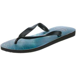Havaianas Top Photoprint Zehentrenner Herren black-black-blue