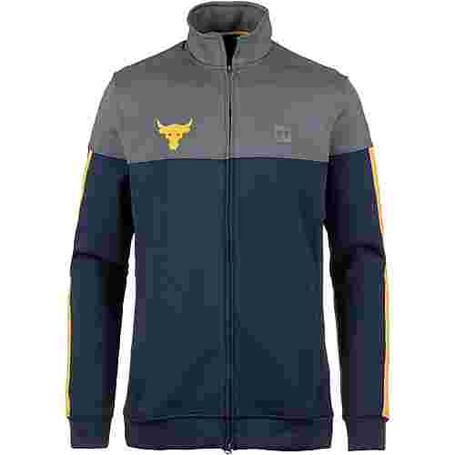 Under Armour PROJECT ROCK TRACK Sweatjacke Herren navy