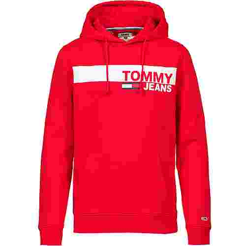 Tommy Jeans Hoodie Herren flame scarlet