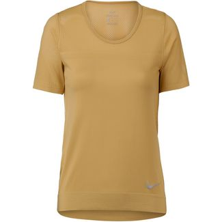 Nike Infinite Laufshirt Damen club gold-reflective silver