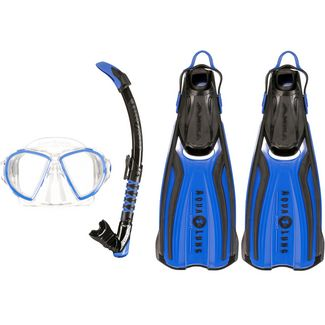 AQUA LUNG Set Duetto Schnorchelset blue-black