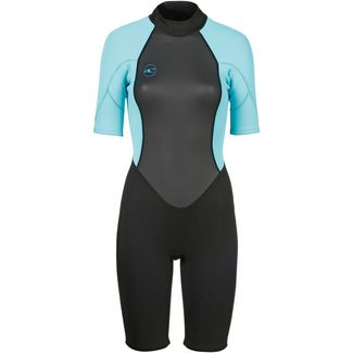 O'NEILL Reactor II 2mm Back Zip Neoprenanzug Damen black-light aqua
