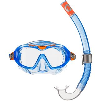 AQUA LUNG Combo Mix Schnorchelset blue-orange