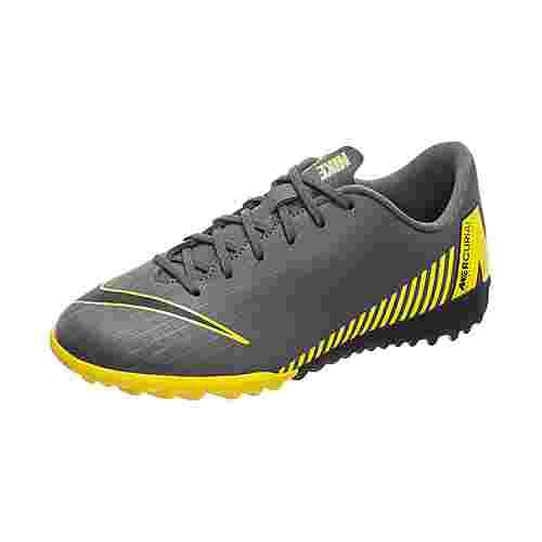 Nike Mercurial VaporX XII Academy Fußballschuhe Kinder dunkelgrau / gelb