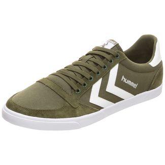 hummel Slimmer Stadil Low Sneaker Herren grün / weiß