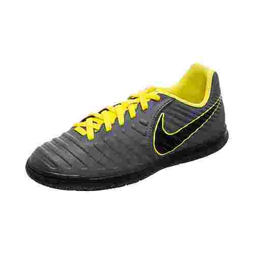 Nike LegendX VII Club Fußballschuhe Kinder dunkelgrau / gelb