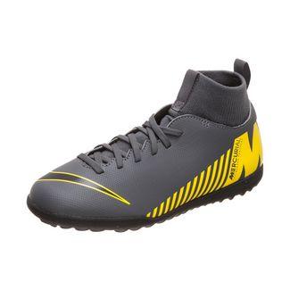 Nike Mercurial SuperflyX VI Club Fußballschuhe Kinder dunkelgrau / gelb
