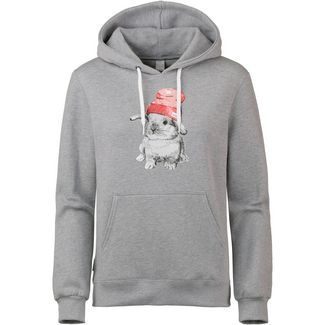 iriedaily It Hasi Hoodie Damen grey melange