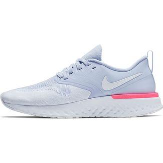 Nike Odyssey react 2 Flyknit Laufschuhe Damen hydrogen blue-white-hyper pink-black