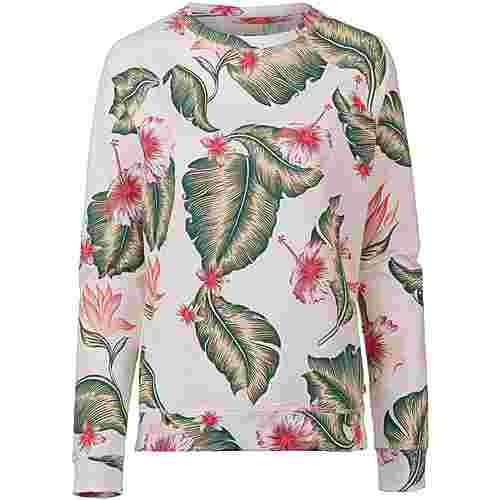 Roxy Sweatshirt Damen marshmallow tropical love