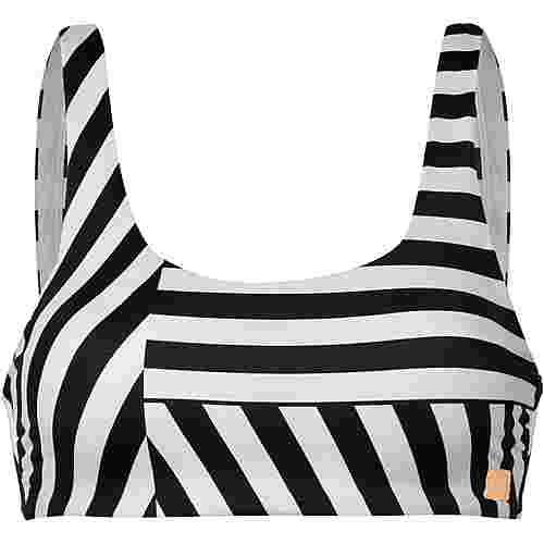 Roxy Pop Surf Bikini Oberteil Damen true black victoria stripes