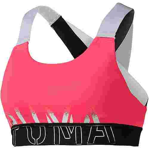 PUMA Sport-BH Damen pink alert-puma black-puma white