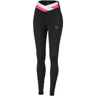 PUMA Tights Damen puma black-pink alert