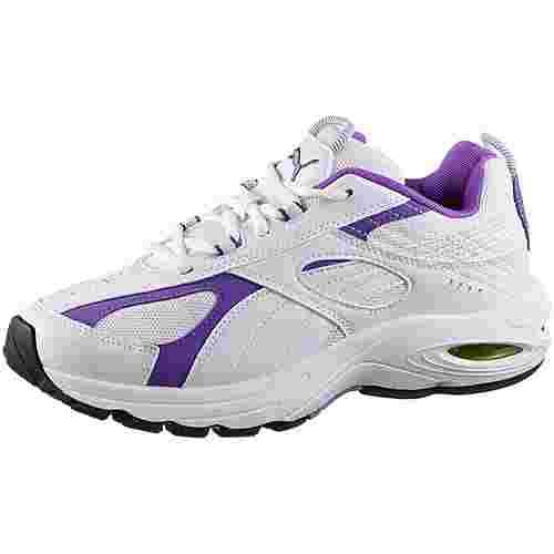 PUMA Cell Speed Sneaker Damen puma white-purple glimmer