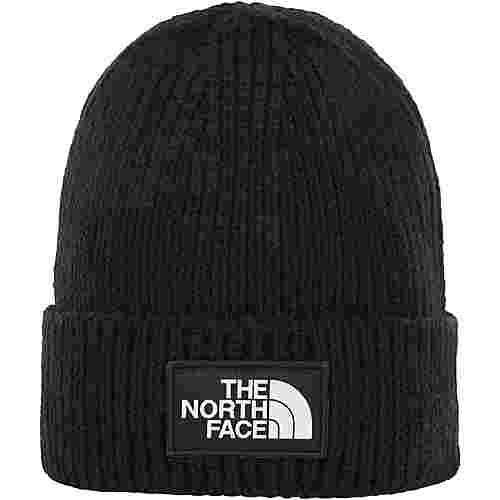 The North Face Logo Box Cuffed Beanie tnf black