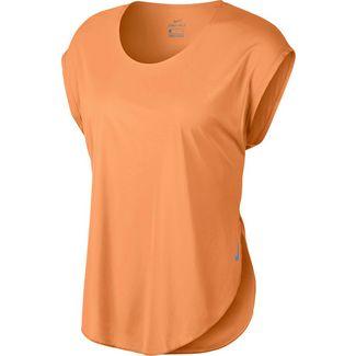 Nike City Sleek Laufshirt Damen fuel orange-reflective silver