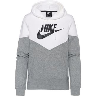 Nike NSW Hoodie Damen dk-grey-heather-white