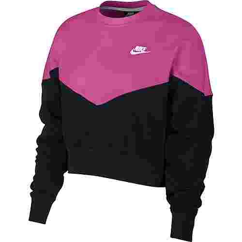 Nike NSW Sweatshirt Damen black-active-fuchsia