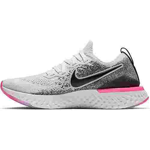 Nike Epic React Flyknit 2 Laufschuhe Damen white-black-hyper pink-blue tint