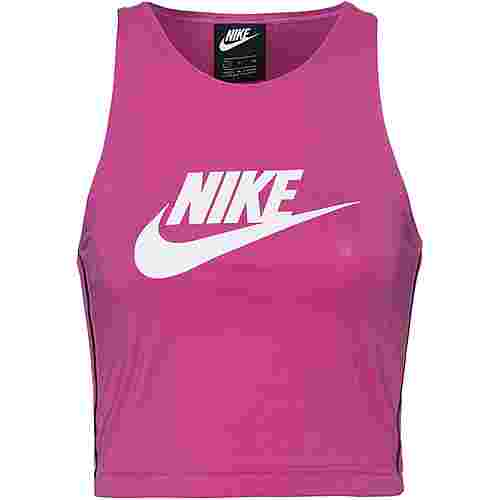 Nike NSW Croptop Damen active-fuchsia-black