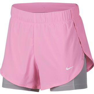 Nike Shorts Damen pink rise-atmosphere grey-white