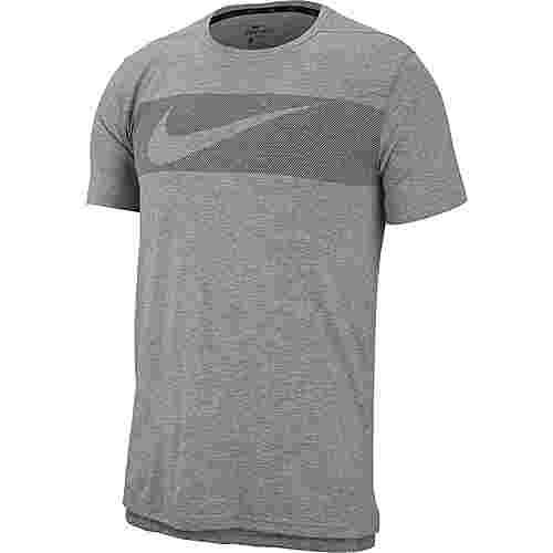 Nike Breathe Hyper Dry GFX Funktionsshirt Herren dk.grey heather