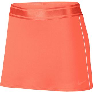 Nike W NKCT DRY SKIRT STR Tennisrock Damen orange pulse-white-white-orange pulse