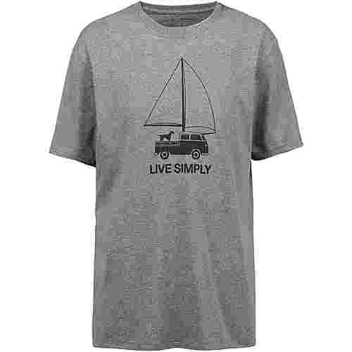 Patagonia LIVE SIMPLY WIND POWERED T-Shirt Herren gravel heather