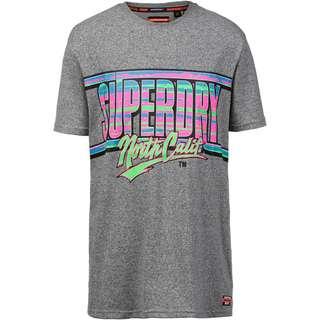 Superdry Acid Graphics T-Shirt Herren podium mid grey