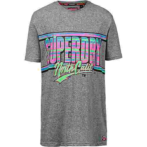 Superdry Acid Graphics T-Shirt Herren podium mid grey