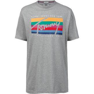 Tommy Jeans Tommy Rainbow T-Shirt Herren light grey heather