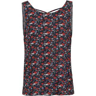 TOM TAILOR Printshirt Damen flower print dark blue