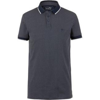 TOM TAILOR Poloshirt Herren navy blue dots print