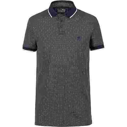 TOM TAILOR Poloshirt Herren navy blue dots print